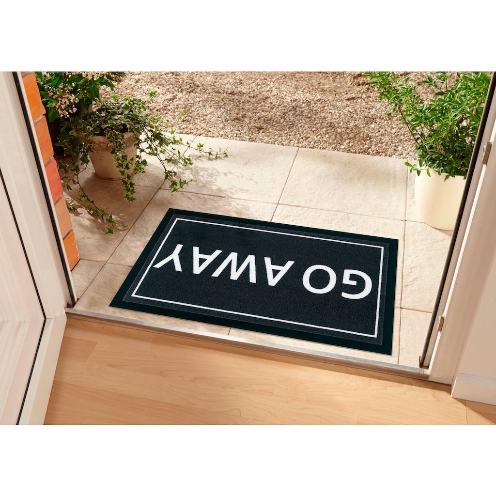 my home Fußmatte »Biona«, rechteckig, 5 mm Höhe, Schmutzfangmatte, mit Spruch