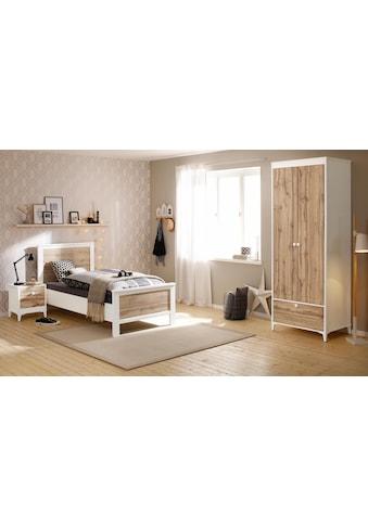 Home affaire Schlafzimmer-Set »Kjell«, (Set, 3 tlg.), bestehend aus Bett, Nachttisch und 2-türigem Kleiderschrank kaufen