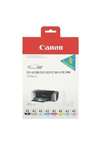 Canon Tintenpatronen - Set (CLI - 42 BK/GY/LGY/C/M/Y/PC/PM) »CLI - 42« kaufen