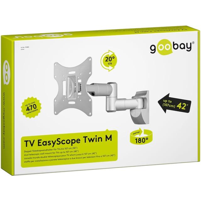 Goobay Wandhalter Doppel-Teleskop »EasyScope Twin M für TV von 17-42 Zoll«