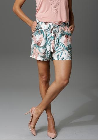 Aniston CASUAL Shorts, mit Tropical-Print - NEUE KOLLEKTION kaufen