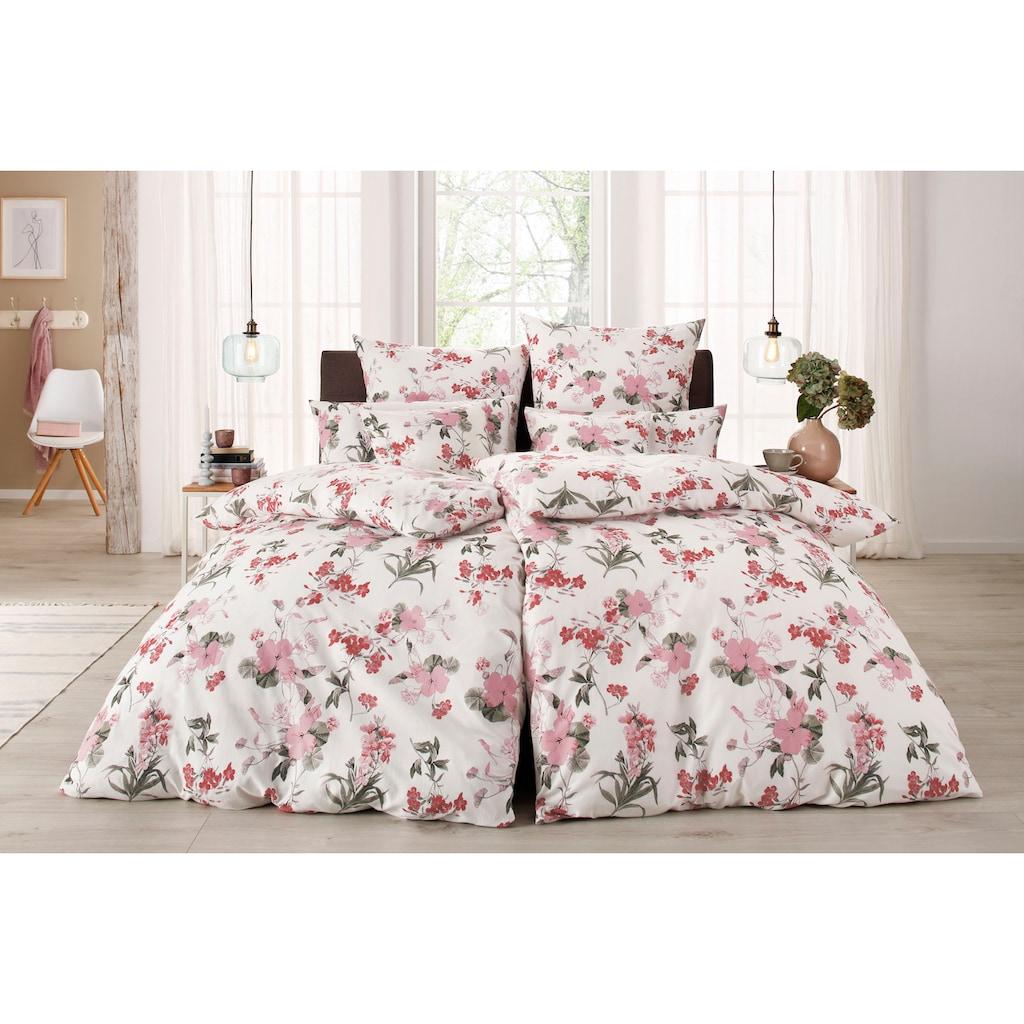 Home affaire Bettwäsche »Fleur«, mit feinen Blumenmotiven