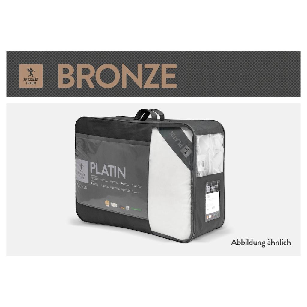 SPESSARTTRAUM Daunenbettdecke »Bronze«, extrawarm, Füllung 90% Daunen, 10% Federn, Bezug 100% Baumwolle, (1 St.), hergestellt in Deutschland, allergikerfreundlich