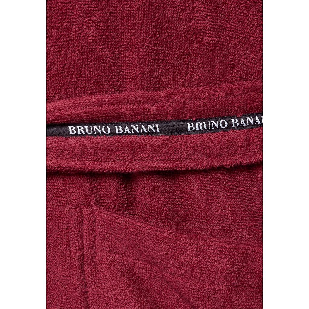 Bruno Banani Herrenbademantel »Danny«, mit Logostreifen auf dem Gürtel