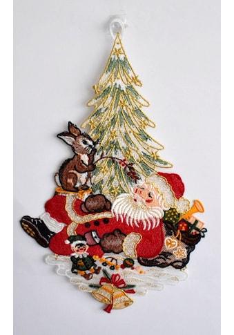Stickereien Plauen Fensterbild »Weihnachtsmann« kaufen