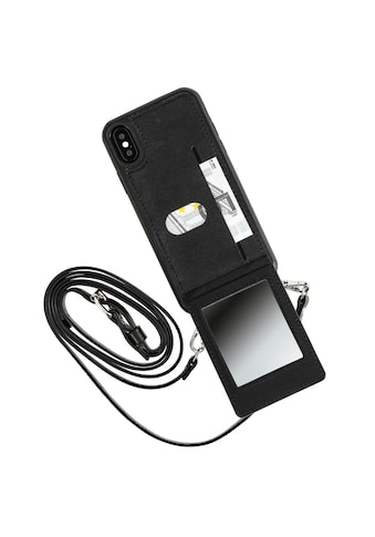 """Hama Smartphone-Hülle »Umhänge Cover, Schwarz«, """"Mirror"""" für Apple iPhone X/Xs kaufen"""
