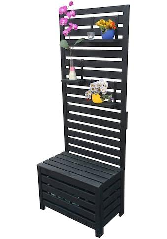 PROMADINO Holzspalier mit Staukasten, BxTxH: 70x40x180 cm kaufen