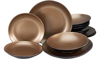 Leonique Tafelservice »Oralie«, (Set, 12 tlg.), metallische Farben kaufen