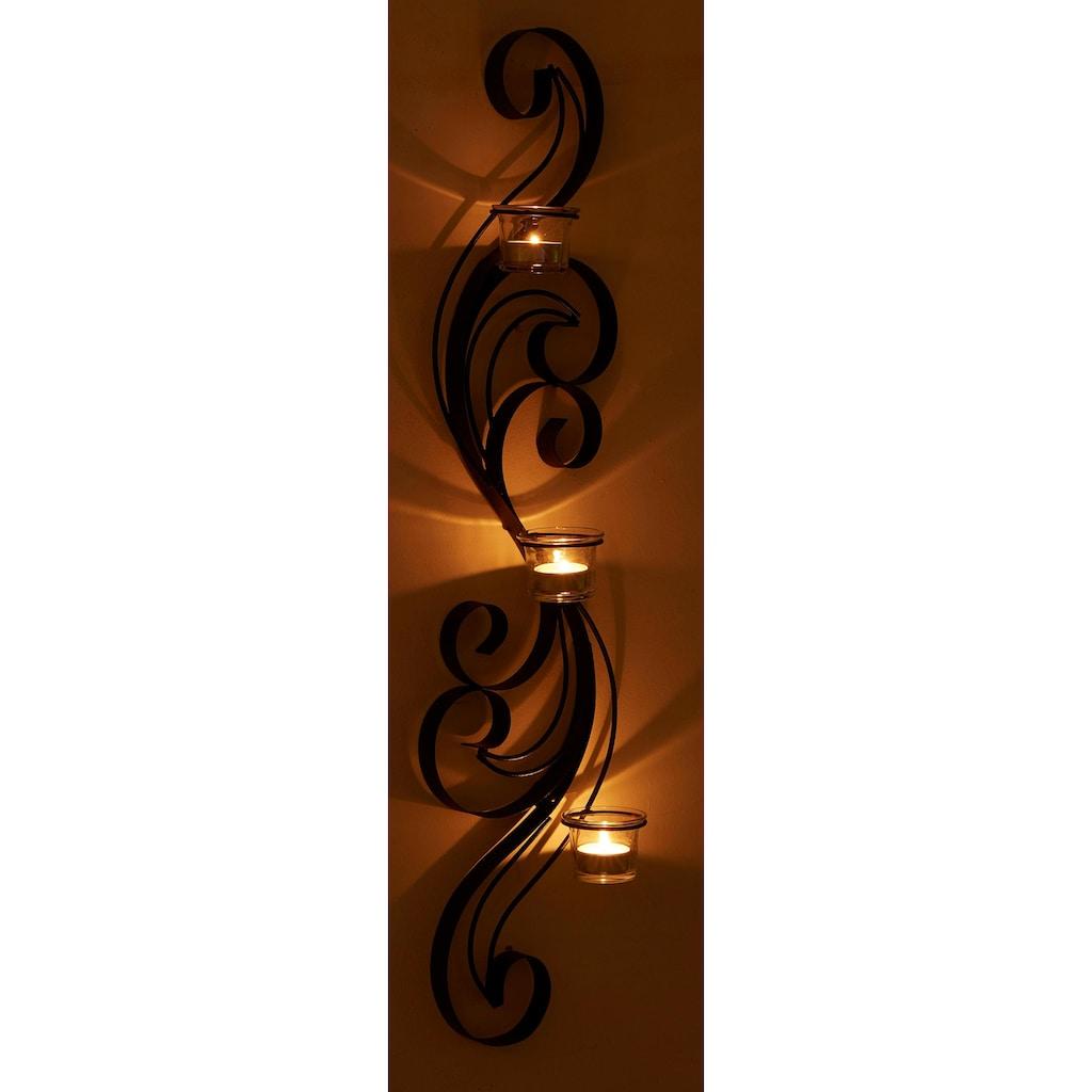 Home affaire Wandkerzenhalter »Hana«, Wandleuchter, Kerzenhalter, Kerzenleuchter, Wanddeko, Wanddekoration, mit Teelichthaltern
