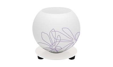 Brilliant Leuchten Pop Tischleuchte weiß/violett floral Deko kaufen