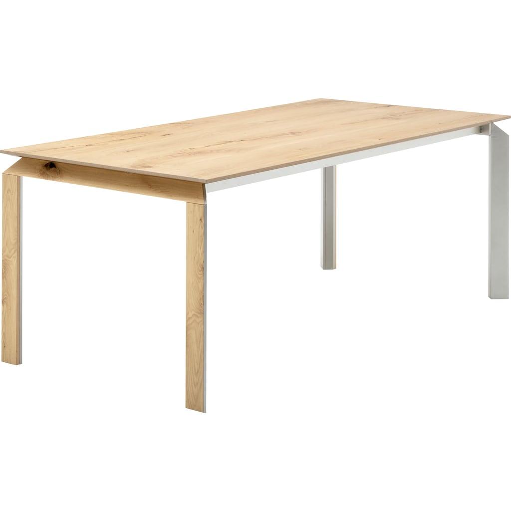 GWINNER Esstisch »ET521«, mit furnierter Tischplatte, wahlweise mit Auszugsfunktion