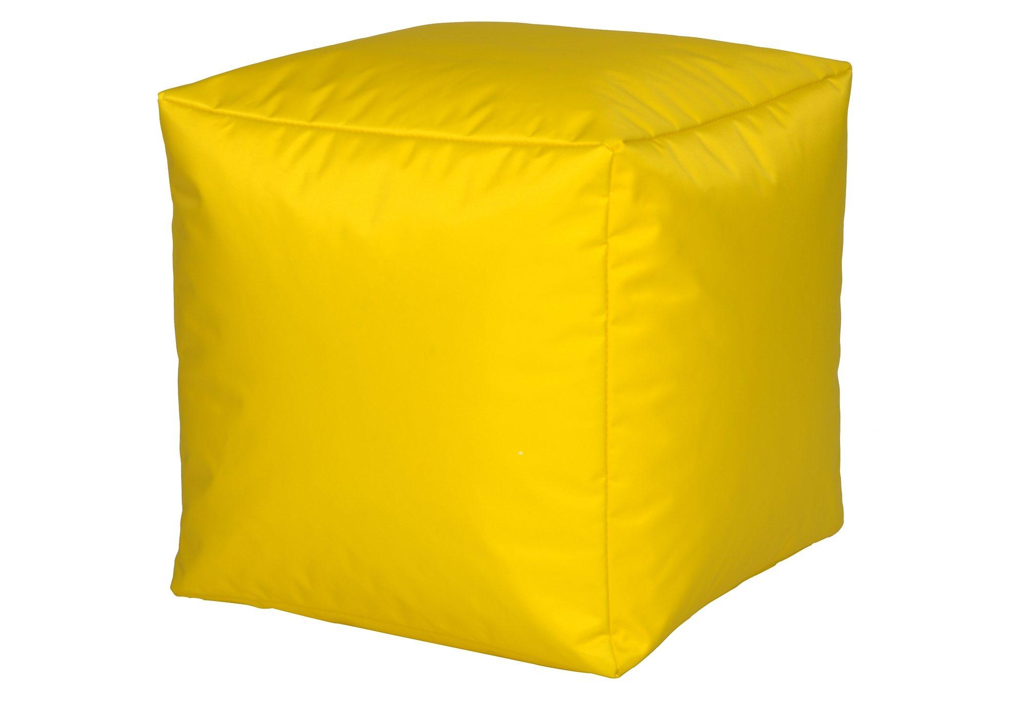 Sitzwürfel, Home affaire | Wohnzimmer > Hocker & Poufs > Sitzwürfel | Gelb | Stoff - Nylon | home affaire