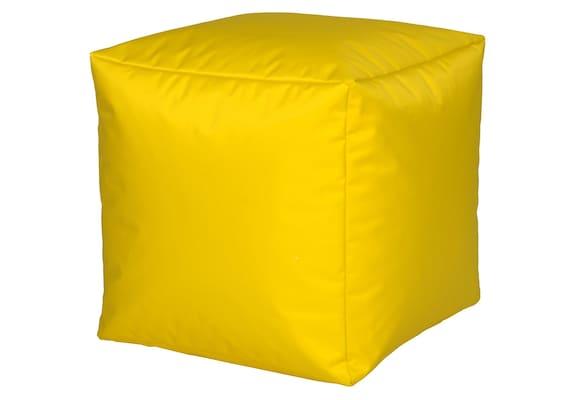gelber Sitzwürfel