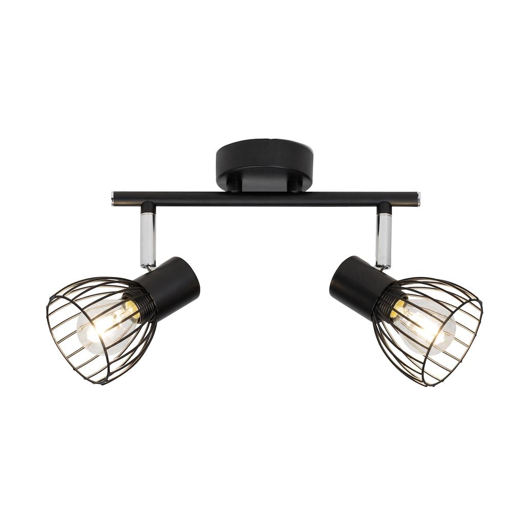 Brilliant Leuchten Deckenleuchten, E14, Blacky Spotrohr 2flg schwarz