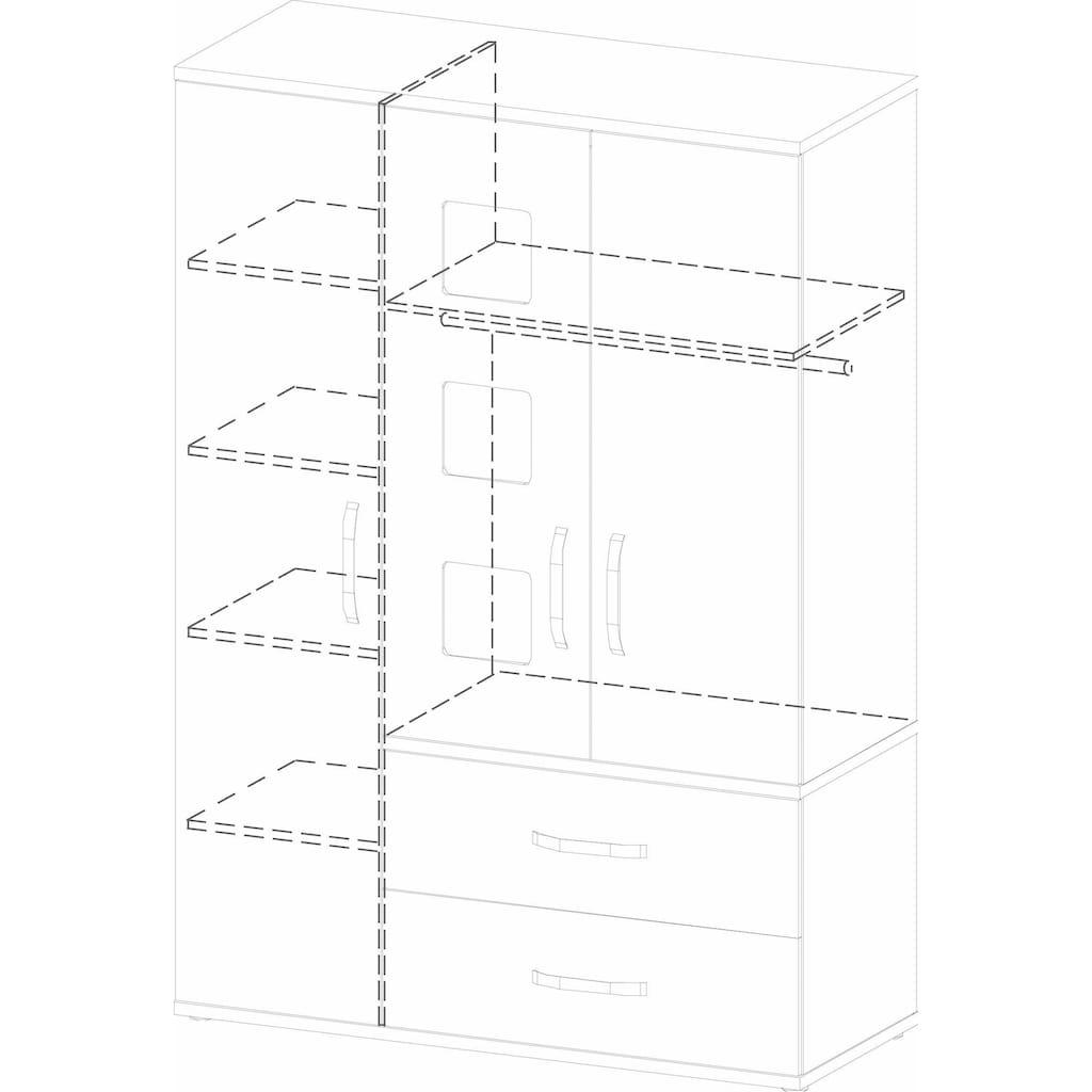 roba® Kleiderschrank »Moritz, 3-türig«, mit integrierten Bilderrahmen an den Türen; Made in Europe