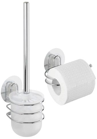 WENKO WC - Garnitur »Osimo«, WC - Rollenhalter, 2 - teiliges Set, Static - Loc kaufen