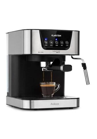Klarstein Arabica Espressomaschine 1050W 15 Bar 1,5l Touch »Espresso« kaufen