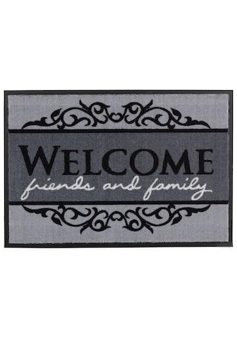 ASTRA Fußmatte »Homelike 004«, rechteckig, 7 mm Höhe, Schmutzfangmatte, mit Spruch, In... kaufen
