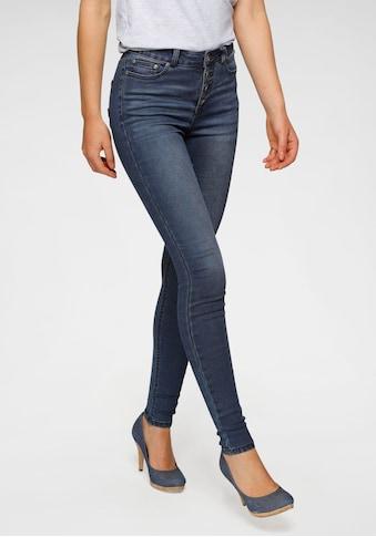 Arizona Skinny-fit-Jeans »Ultra Stretch«, High Waist mit durchgehender Knopfleiste -... kaufen