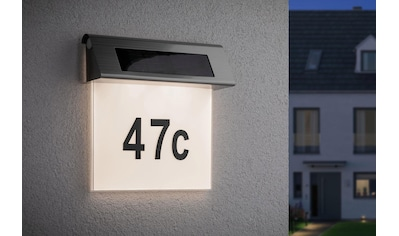 Paulmann,LED Außen - Wandleuchte»Solar Hausnummer LED Edelstahl Weiß 0,2W«, kaufen