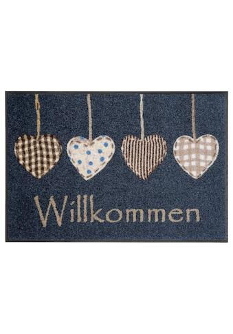 wash+dry by Kleen-Tex Fußmatte »Cottage Hearts«, rechteckig, 7 mm Höhe,... kaufen