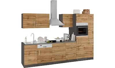 HELD MÖBEL Küchenzeile »Stockholm«, mit E-Geräten, Breite 310 cm, mit hochwertigen MDF... kaufen