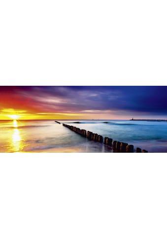 Home affaire Glasbild »TTstudio: Ostsee mit schönem Sonnenaufgang« kaufen