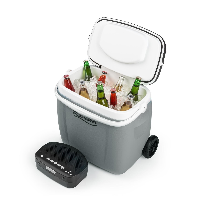 Auna Music Cooler 36 l Trolley-Kühlbox BT-Lautsprecher »Picknicker Trolley« | Taschen > Koffer & Trolleys > Trolleys | Grau | Auna