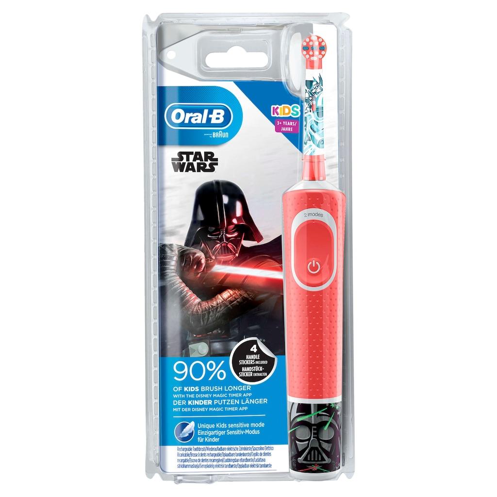 Oral B Elektrische Kinderzahnbürste »Kids Star Wars«, 1 St. Aufsteckbürsten