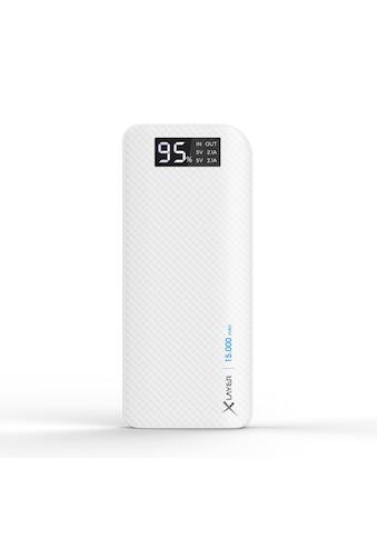 XLAYER Zusatzakku »Powerbank Pure Carbon White 15000mAh Smartphones/T« kaufen