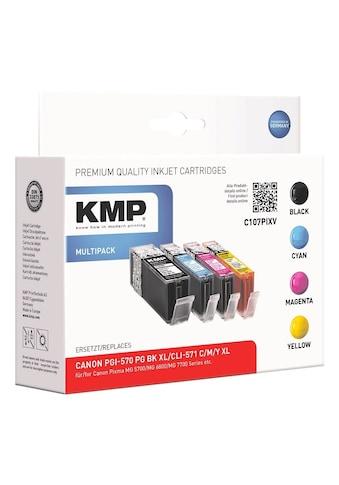 KMP Tintenpatronen - Set ersetzt Canon »PGI - 570 XL BK / CLI - 571 XL C/M/Y« kaufen