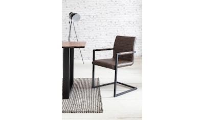 SalesFever Freischwinger, mit Quersteppung auf Rücken- und Sitzbereich, Armlehnstuhl kaufen