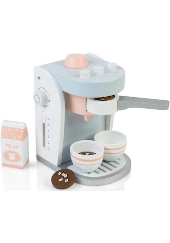 MUSTERKIND® Kinder-Kaffeemaschine »Olea, weiß/graublau«, mit herausnehmbaren Siebträger kaufen