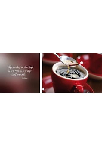 queence Leinwandbild »Kaffee«, (Set), 2er-Set kaufen