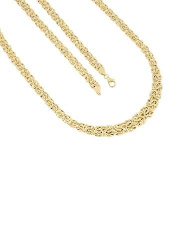 Firetti Goldkette »Edle Königskettengliederung, 6,6 mm  -  10 mm breit im Verlauf, glänzend, beidseitig bombadiert« kaufen
