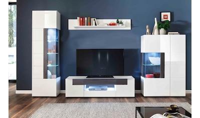 trendteam Wohnwand »Tokyo«, (Set, 4 St., 4-teiliges Set. Den TV-Aufsatz ist separat... kaufen