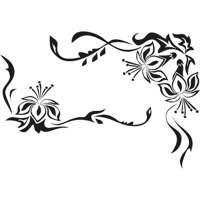 Home affaire Wandtattoo »Blütenornament«