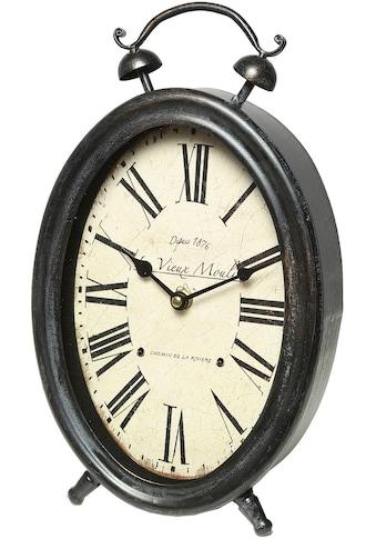 Ambiente Haus Tischuhr »French Uhr - grau 34cm« kaufen