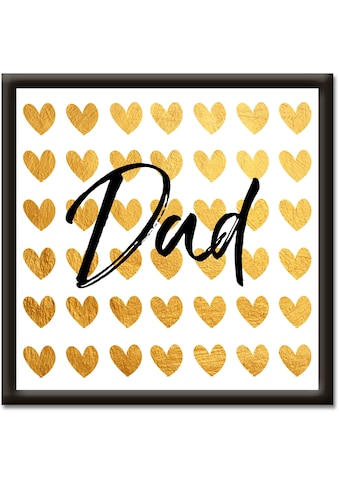Artland Wandbild »Goldene Herzen für Papa« kaufen