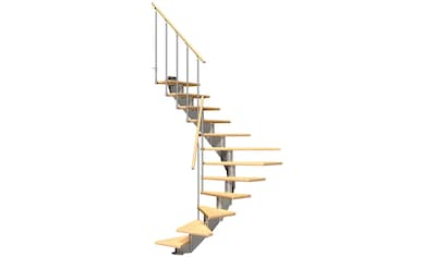 DOLLE Mittelholmtreppe »Hamburg Birke 75«, bis 258 cm, Metallgeländer, versch. Ausführungen kaufen