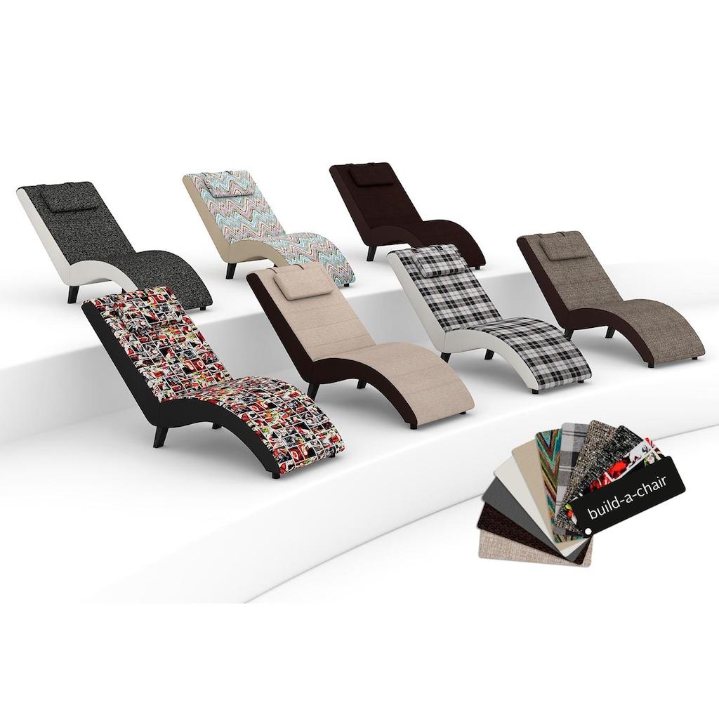 Max Winzer® Relaxliege »build-a-chair Nova«, inklusive Nackenkissen, zum Selbstgestalten