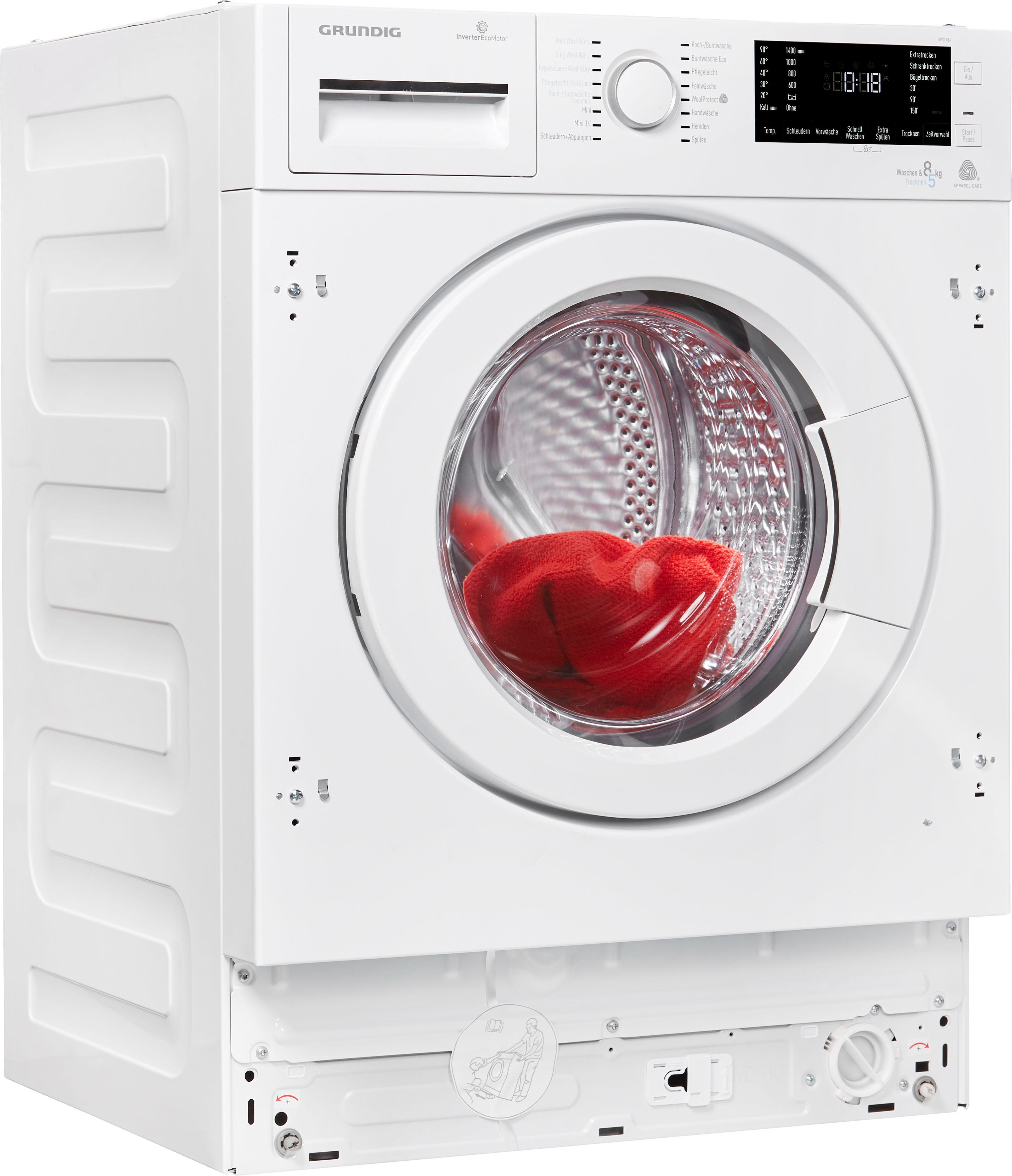 Grundig Einbauwaschtrockner GWDI 854, 8 kg / 5 kg, 1400 U/Min | Bad > Waschmaschinen und Trockner > Waschtrockner | Grundig