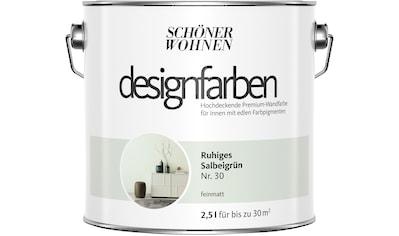 SCHÖNER WOHNEN-Kollektion Wandfarbe »Designfarben«, ruhiges Salbeigrün Nr. 30,... kaufen