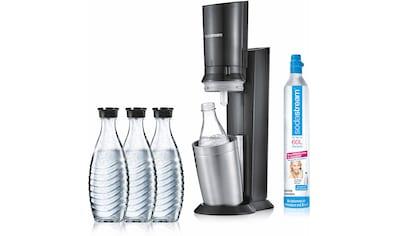 SodaStream Wassersprudler »CRYSTAL 2.0 titan«, (Set, 5 tlg., 1 Wassersprudler, 3... kaufen