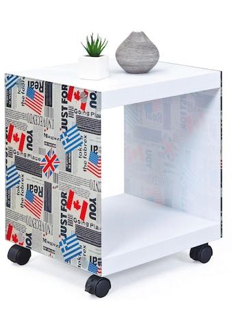 INOSIGN Beistelltisch »Cube«, mit gestalteten Glasseiten kaufen