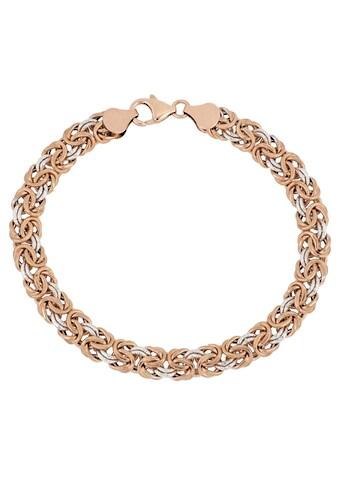 Firetti Goldarmband »Königskette, 8 mm, glänzende Optik, ziseliert, glatt, bicolor« kaufen