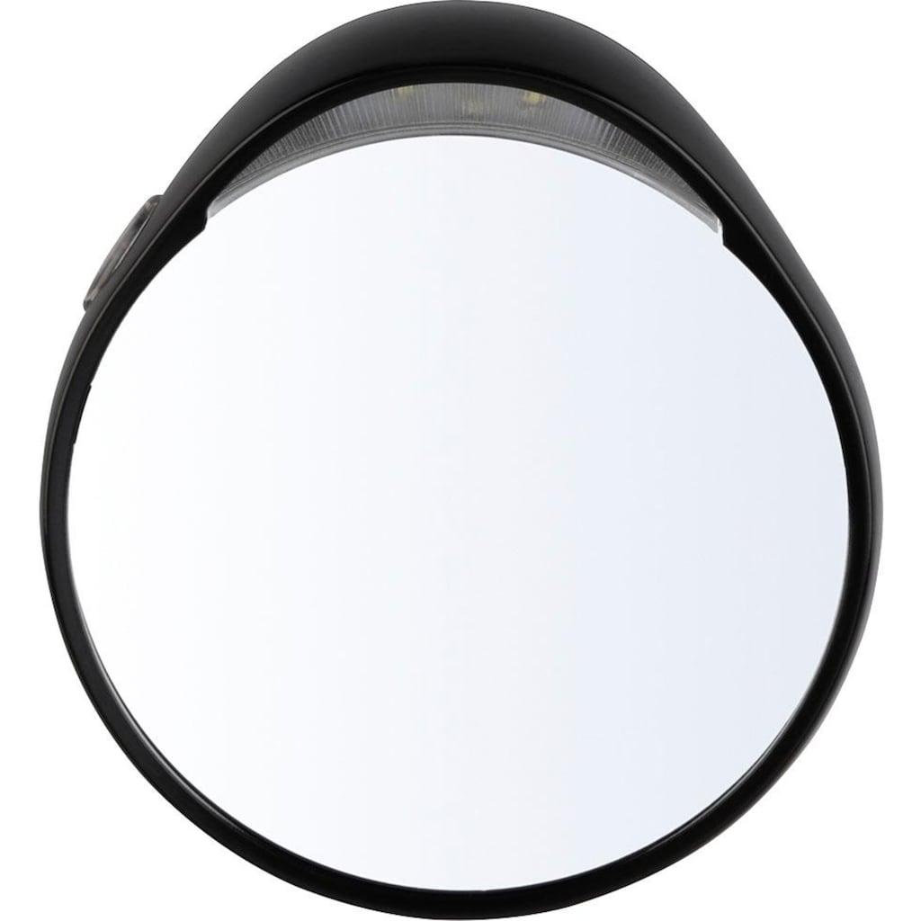 TWEEZERMAN Kosmetikspiegel, 10-fach Vergrößerung mit Beleuchtung