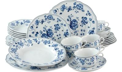 CreaTable Kombiservice »ROYAL BLUE FLOWER«, (Set, 30 tlg., 6 Speiseteller 26 cm 6... kaufen