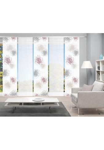 Vision Schiebegardine »SPOTTI 5er SET«, Bambus-Optik, Digital bedruckt kaufen