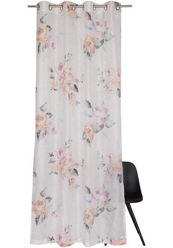 SCHÖNER WOHNEN-Kollektion Vorhang nach Maß »Bouquet«, Blüten mit Pastelltönen kaufen